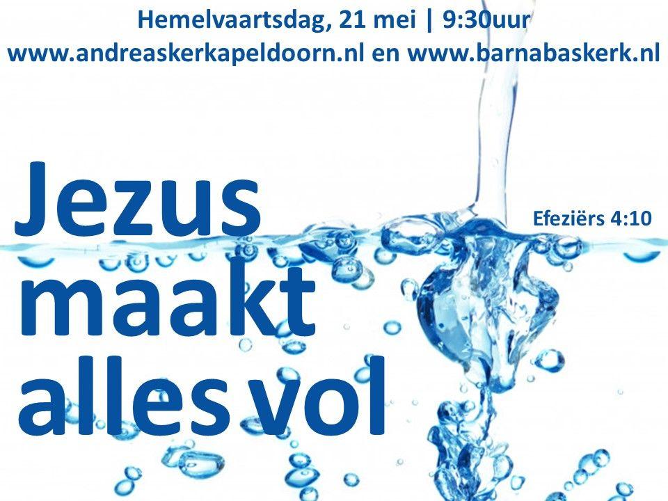Liturgie Hemelvaart -  ds. B.A.T. Witzier