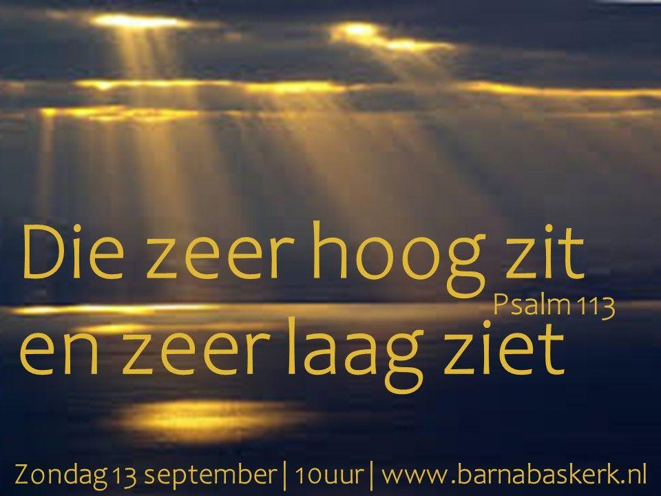 Liturgie ochtenddienst 13 september - ds. B.A.T. Witzier